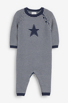 Next Stripe Knitted Star Romper (0mths-2yrs) - 267132