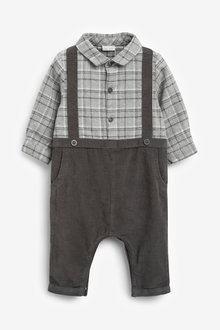 Next Smart Check Woven Romper (0mths-2yrs) - 267136
