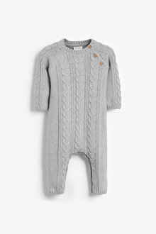 Next Cable Knitted Romper (0mths-2yrs) - 267139