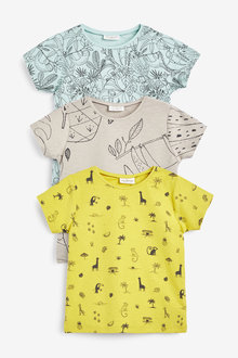 Next 3 Pack Character Stretch T-Shirts (0mths-2yrs) - 267142