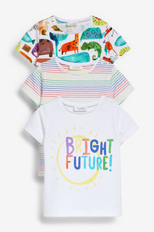 Next 3 Pack Character Stretch T-Shirts (0mths-2yrs) - 267143