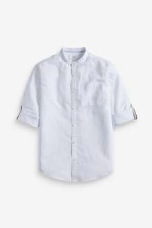 Next Linen Blend Long Sleeve Shirt - 267144