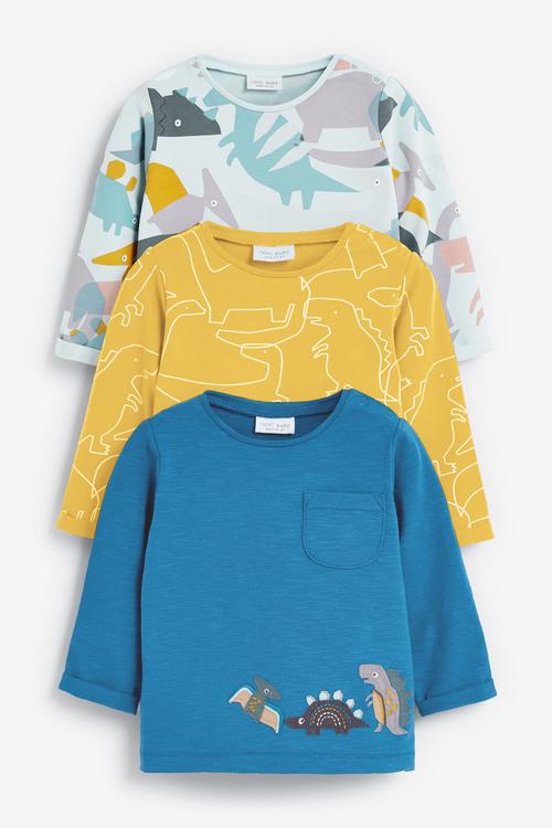 Next 3 Pack Dinosaur T-Shirts (0mths-2yrs)
