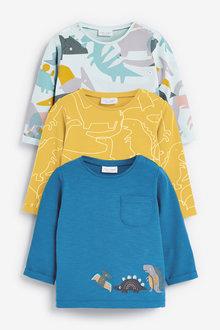 Next 3 Pack Dinosaur T-Shirts (0mths-2yrs) - 267150