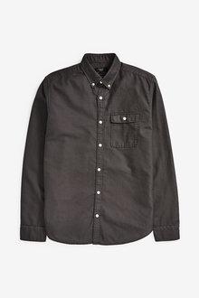 Next Textured Overdye Long Sleeve Shirt - 267153