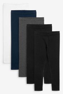 Next 5 Pack Leggings (3-16yrs) - 267159