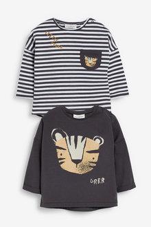 Next 2 Pack Stretch T-Shirts (0mths-2yrs) - 267160