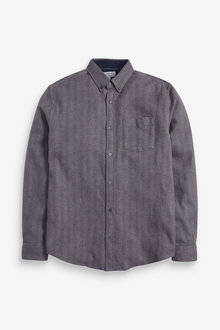 Next Herringbone Long Sleeve Shirt - 267163