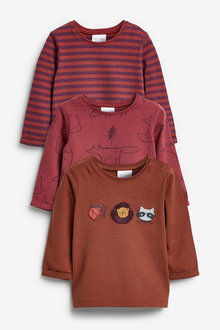Next 3 Pack Woodland Character T-Shirts (0mths-2yrs) - 267168