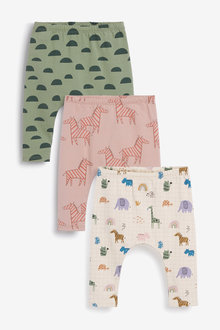 Next Three Pack Character Stretch Leggings (0mths-2yrs) - 267180