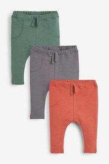Next 3 Pack Stretch Leggings (0mths-2yrs) - 267182