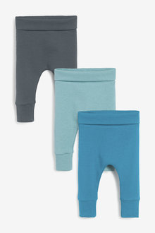 Next 3 Pack Ribbed Leggings (0mths-2yrs) - 267187