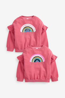 Next Flippy Sequin Rainbow Crew Sweat Top (3-16yrs) - 267190