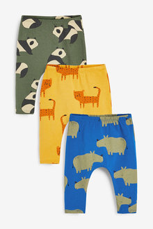 Next 3 Pack Character Leggings With Stretch (0mths-2yrs) - 267193