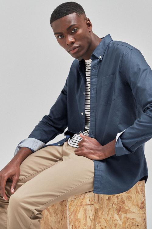 Next Long Sleeve Regular Fit Oxford Shirt