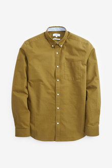 Next Regular Fit Long Sleeve Oxford Shirt - 267211