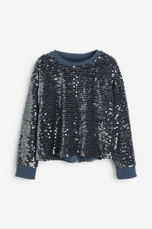 Next Sequin Crew Neck Sweat Top (3-16yrs) - 267213