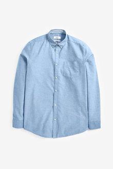 Next Long Sleeve Oxford Shirt-Regular Fit - 267214