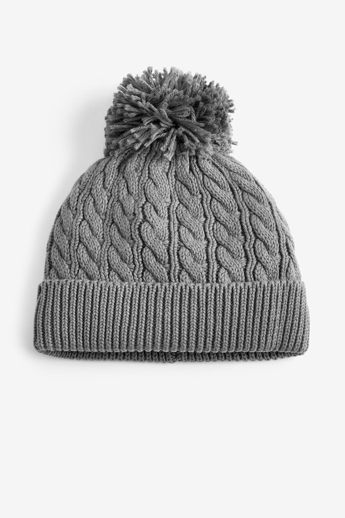Next Cable Hat With Pom (0mths-2yrs)