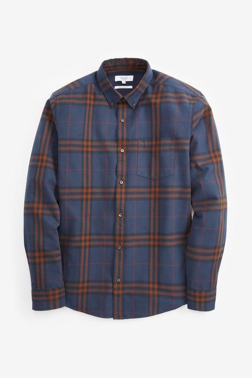 Next Long Sleeve Window Pane Check Shirt