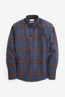 Next Long Sleeve Window Pane Check Shirt - 267267
