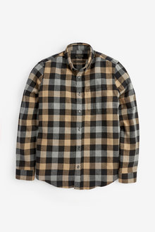 Next Buffalo Check Brushed Flannel Long Sleeve Shirt - 267270