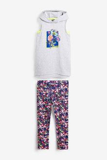 Next Floral Sports And Legging Set (3-16yrs) - 267271