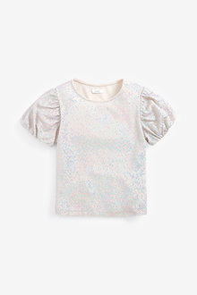 Next Party Sequin Top (3-16yrs) - 267284