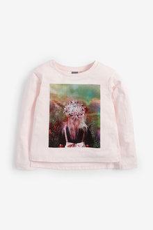 Next Long Sleeve Flower Crown T-Shirt (3-16yrs) - 267288
