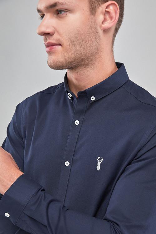 Next Skinny Fit Long Sleeve Stretch Oxford Shirt