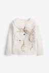Next Sequin Unicorn Long Sleeve T-Shirt (3-16yrs)