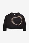 Next Sequin Long Sleeve Heart Top (3-16yrs)