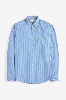 Next Stripe Long Sleeve Regular Fit Shirt - 267299