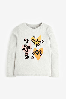Next Heart Animal Graphic Long Sleeve T-Shirt (3-16yrs) - 267300