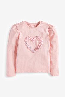 Next Confetti Heart Puff Sleeve Top (3-16yrs) - 267302