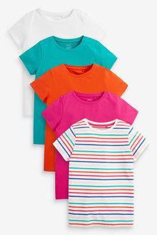 Next 5 Pack Rainbow Stripe T-Shirts (3-16yrs) - 267303