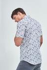 Next Short Sleeve Floral Print Shirt