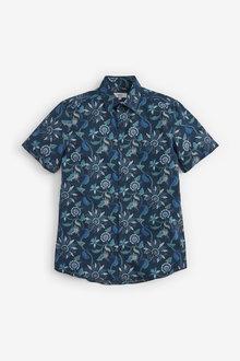 Next Botanical Print Short Sleeve Shirt - 267312