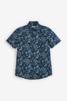 Next Botanical Print Short Sleeve Shirt