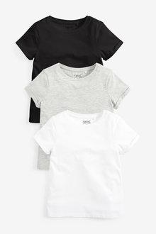Next 3 Pack Mono T-Shirts (3-16yrs) - 267313