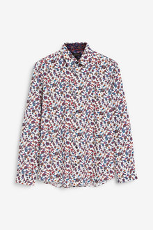 Next Ornate Print Slim Fit Shirt - 267319