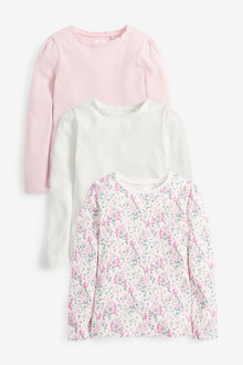 Next 3 Pack Pink Pointelle Tops (3-16yrs) - 267321