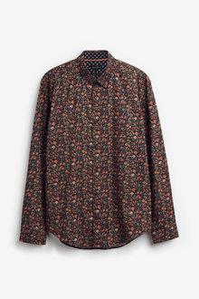 Next Ditsy Print Regular Fit Long Sleeve Shirt - 267331