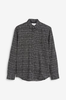 Next Mono Print Slim Fit Long Sleeve Shirt - 267332