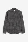Next Mono Print Slim Fit Long Sleeve Shirt