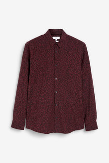 Next Leopard Print Slim Fit Long Sleeve Shirt - 267334