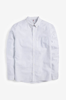 Next Slim Fit Stripe Mixed Long Sleeve Shirt - 267339