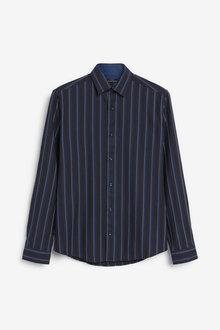 Next Jacquard Stripe Long Sleeve Shirt - 267346