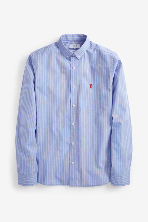 Next Stripe Stag Shirt- Slim Fit