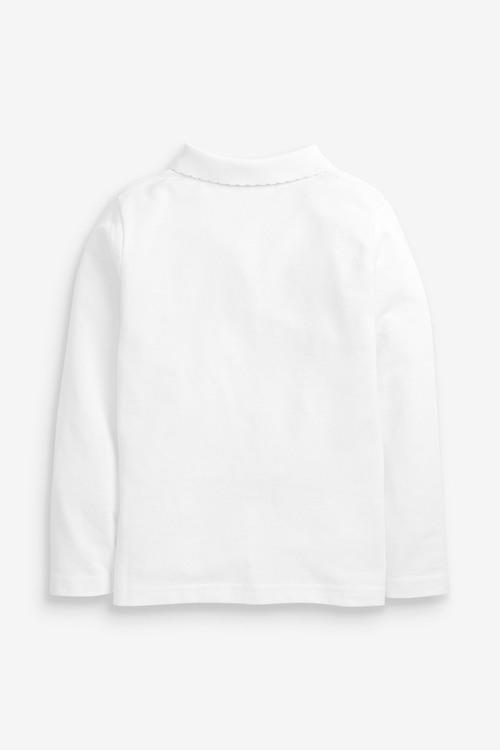 Next 5 Pack Long Sleeve Polo Shirts (3-16yrs)